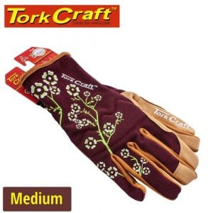 Ladies Slim Fit Garden Gloves Maroon Medium | GL49