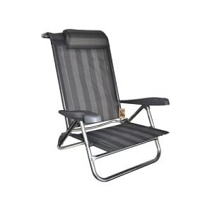 BaseCamp Beach Chair Recliner With Pillow   BCAC1113